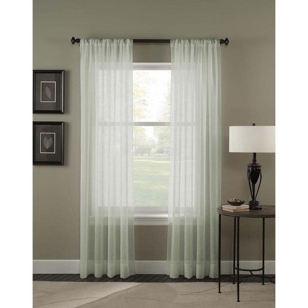 Trinity Crinkle Voile Extrawide Sheer Curtain Panel. Opens flyout.