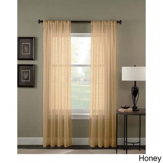 Trinity Crinkle Voile Extrawide Sheer Curtain Panel (2 options available)