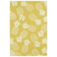 Indoor/Outdoor Beachcomber Pineapple Gold Rug - 3' x 5'