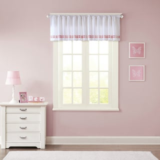 INK+IVY Kids Mayago cotton Embroidered Cotton Window Valance