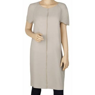 Elie Tahari Gina Beige Shift Dress