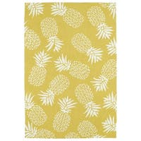 Indoor/Outdoor Beachcomber Pineapple Gold Rug - 9' x 12'