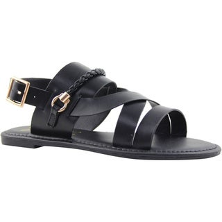Celebrity NYC Women's Mandy Faux-Leather Slingback Sandal