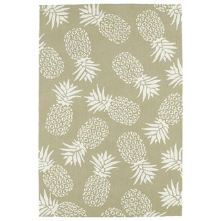 Indoor/Outdoor Beachcomber Pineapple Light Brown Rug (3' x 5')