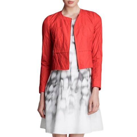 T Tahari Women's Bright Pink Cotton and Nylon Willow Jacket