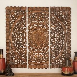 "Wall Art - Wood Wall Plaque Set/3 48""H, 48""W"