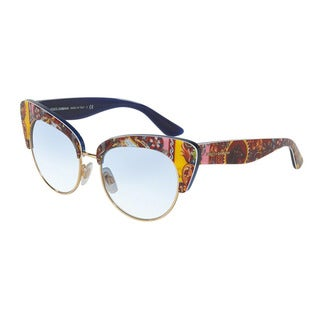 D&G Women's DG4277 30361W Blue Plastic Cat Eye Sunglasses