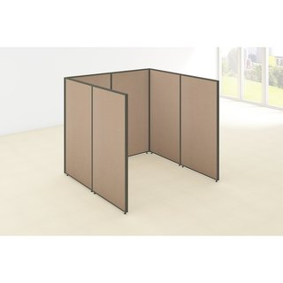 Bush Business Furniture ProPanels Single Open Cubicle Office in Tan