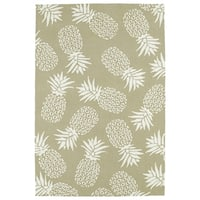 Indoor/Outdoor Beachcomber Pineapple Light Brown Rug - 7'6 x 9'