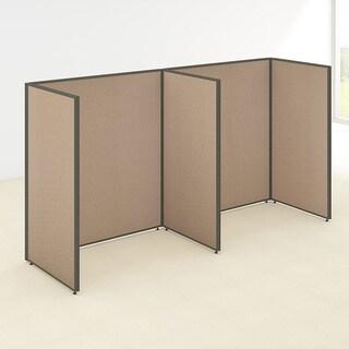 Bush Business Furniture ProPanels 2-Person Open Cubicle Configuration