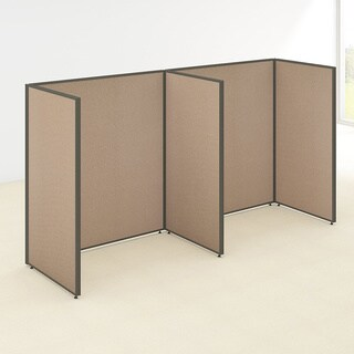 Bush Business Furniture ProPanels 2 Person Open Cubicle Office in Tan