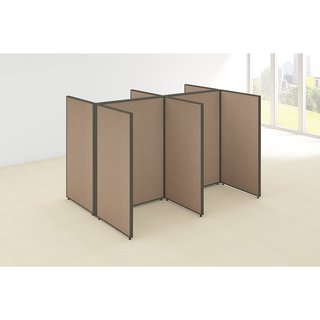 Bush Business Furniture ProPanels 96 x 72 x 66 Tan Plastic 4-person Open Cubicle Configuration