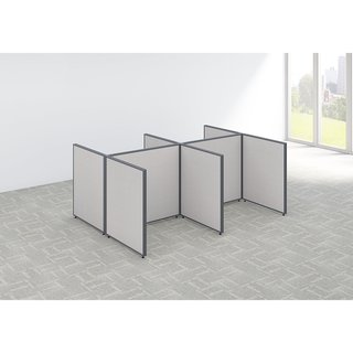 Bush Business Furniture ProPanels 96-inch x 42-inch x 72-inch 4-Person Open Cubicle Configuration