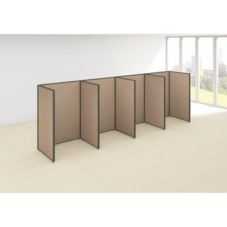 Bush Business Furniture ProPanels 192W x 36D x 66H 4-person Tan Open Cubicle Configuration