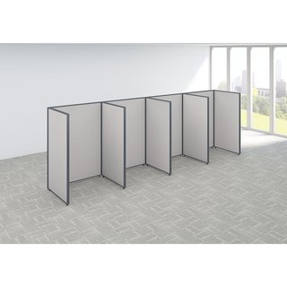 Bush Business Furniture ProPanels 192-inch-wide x 36-inch-deep x 66-inch-high 4-person Open Cubicle Configuration