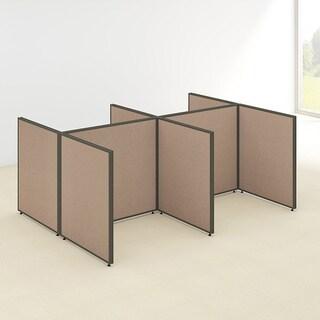 Bush Business Furniture ProPanels 96W x 72D x 42H 4-person Open Cubicle Configuration