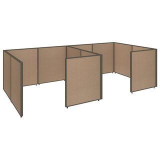 Bush Business ProPanels 2 Person Closed Cubicle Office in Harvest Tan