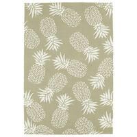 Indoor/Outdoor Beachcomber Pineapple Light Brown Rug - 9' x 12'