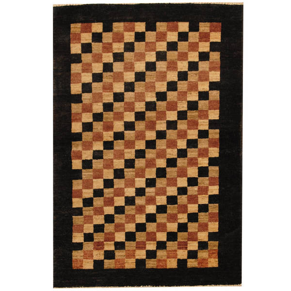 Handmade Herat Oriental Afghan Vegetable Dye Gabbeh Wool Area Rug (Afghanistan) - 2'9 x 4'2