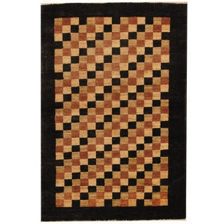 Herat Oriental Afghan Hand-knotted Vegetable Dye Gabbeh Wool Area Rug (2'9 x 4'2)