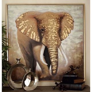 Appealing Elephant Framed Canvas Art