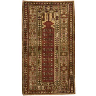 Herat Oriental Turkish Hand-knotted Anatolian Wool Prayer Rug (3'6 x 6'2)