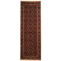 Herat Oriental Indo Hand-knotted Bidjar Wool Runner (2'9 x 8') - 2'9 x 8'