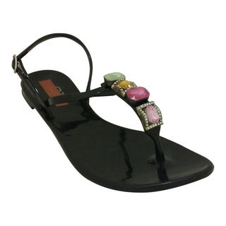 Nichole Simpson Women's Jeweled Jelly Sandals