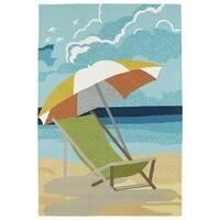 Indoor/Outdoor Beachcomber Shade Multi Rug (3' x 5') - 3' x 5'