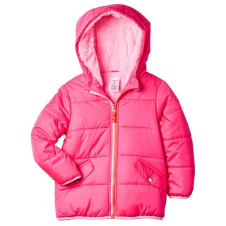 Carter's Girls' Pink Polyester Sherpa-lined Hood Jacket