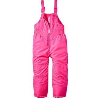 Carter's Girl's Pink Polyester Bib-style Snow Pants