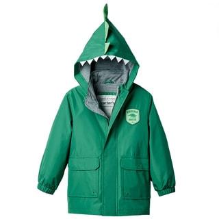 Carter's Boy's Dino Green Polyester Rain Slicker