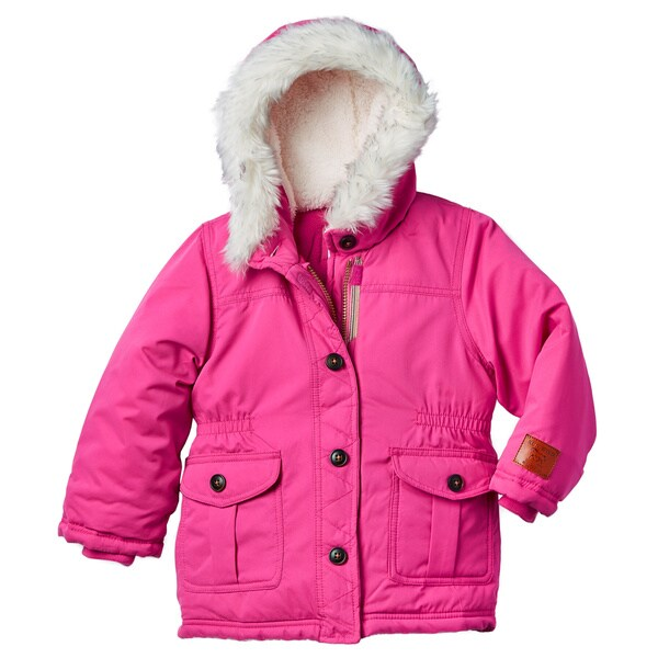 22ecab3e93ae Shop Carter s Toddler Girls  Pink Hooded Parka - Free Shipping On ...