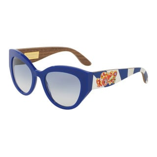 D&G Women's DG4278F 304019 Blue Plastic Cat Eye Sunglasses