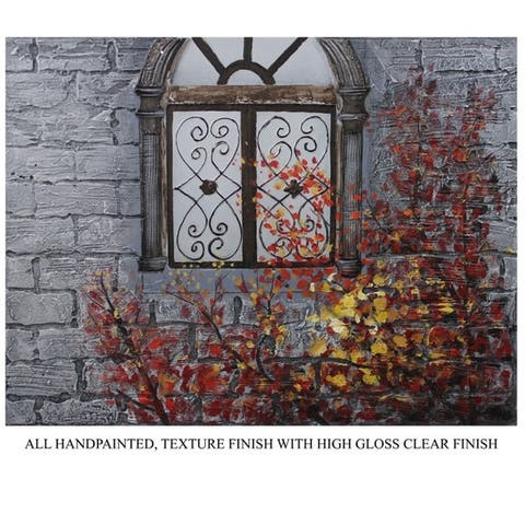 Enthralling Window Oil Painting By Entrada