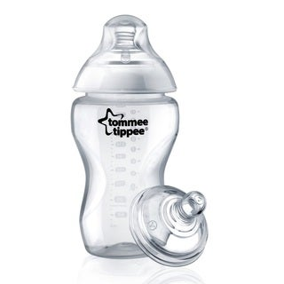 Tommee Tippee Closer To Nature Clear Plastic 11-ounce Cereal Bottle
