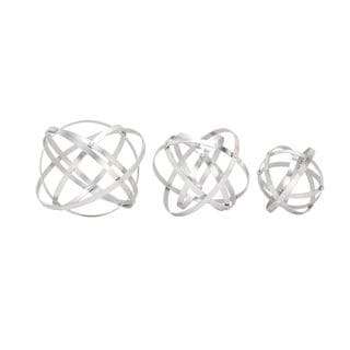 Silver Orchid Olivia Stylish Metal Silver Folding Orbs