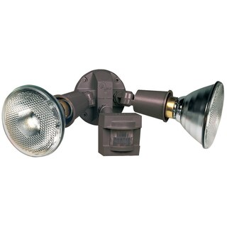 Heath Zenith Bronze Plastic Floodlight Motion-Sensing Incandescent 120 volts 300 watts