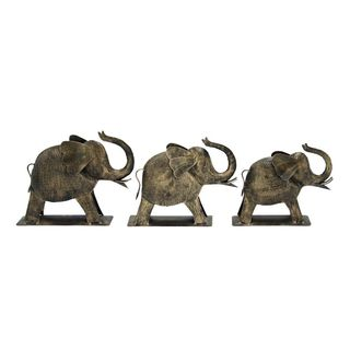 Artistic Metal Elephant (Set Of 3) Pcs