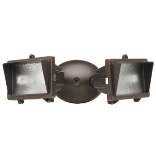 Designers Edge L57BR 300 Watt Bronze Mini Halogen Double Flood Light