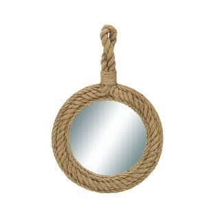 Designer Wood Rope Wall Mirror