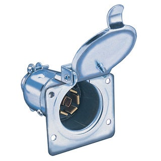 Hopkins Towing 48495 7-Pole RV Blade Round Metal Tow Vehicle End Socket