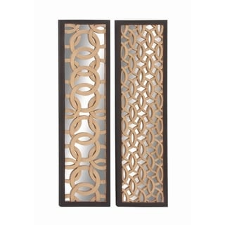Exceptional Wood Mirror Panel 2 Assorted