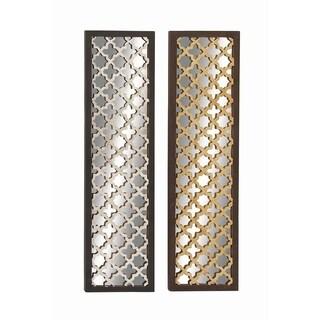 Striking Wood Metal Mirror Panel 2 Assorted