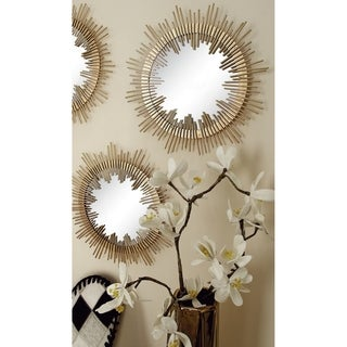 Stylish Metal Mirror Wall Decor (Set Of 6)