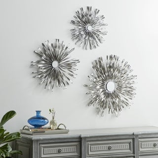 Spectacular Iron Wall Decor With Mirror (Set Of 3)