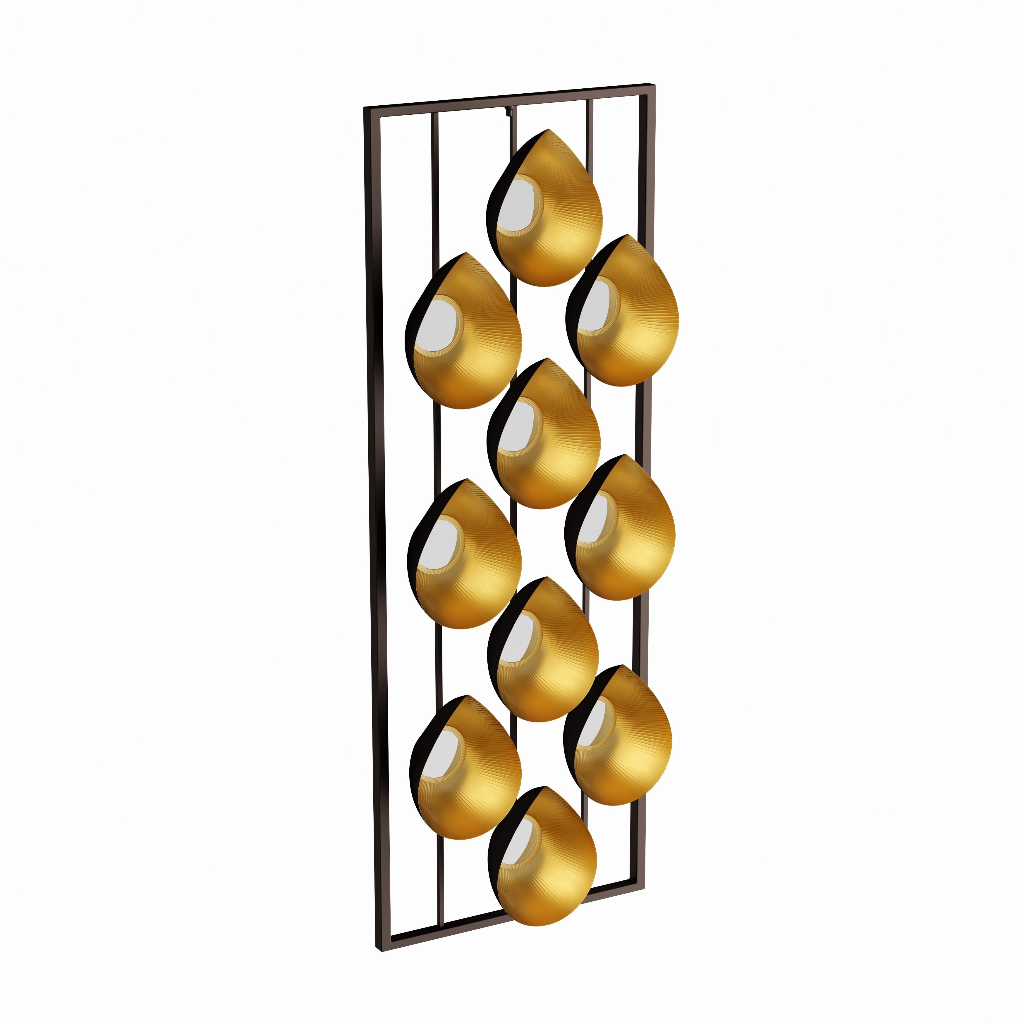 Studio 350 Appealing Metal Mirror Wall Panel (Mirror), Bl...