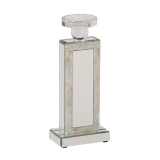 Striking Glass Mirror Mop Candle Holder