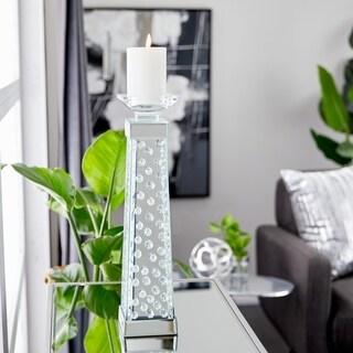 Modern 18 x 4 Inch Pedestal Glass Candleholder by Studio 350