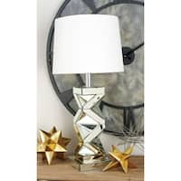 Gorgeous Glass Mirror Table Lamp - Silver